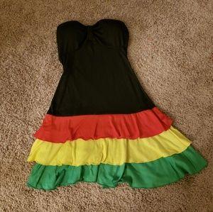 Dresses & Skirts - Rasta Summer Mini-dress